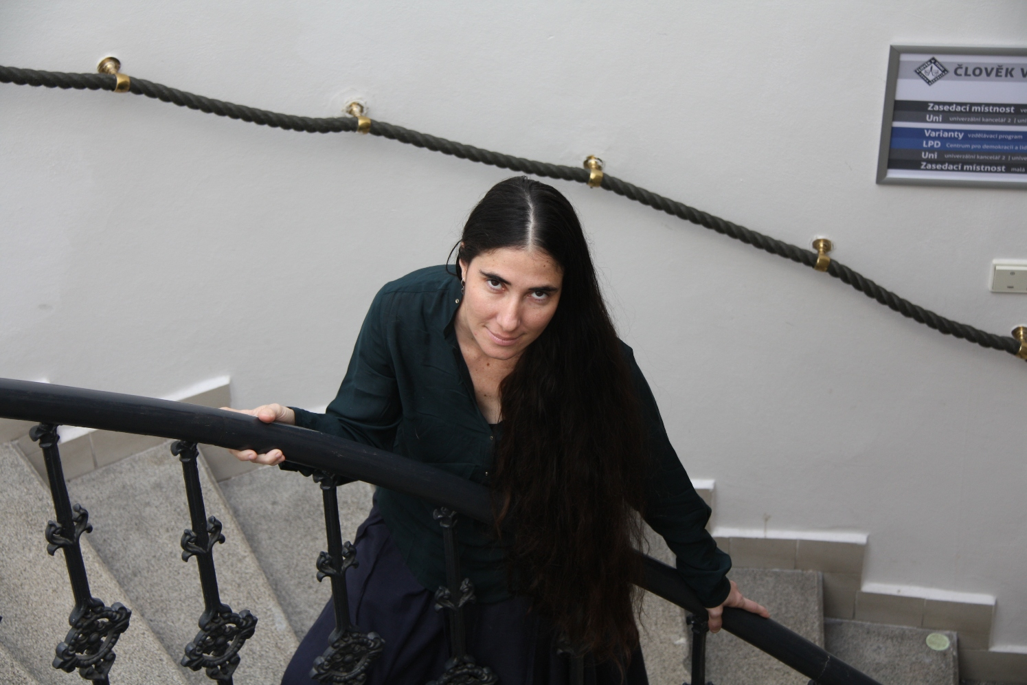Yoani Sanchez visiting Poeple in Need office