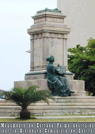 Monument with a dismantled statue of Estrada Palma in Vedado. Photo by Tania Díaz Castro