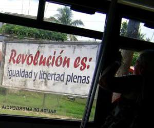 Cuban propaganda. Photo: PIN