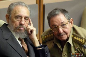 Fidel and Raúl Castro. Photo: Tania Díaz Castro