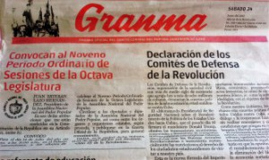 Granma, the official cuban newspaper. Mario Hechevarría Driggs